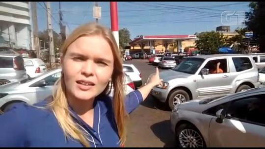 Com preço do litro a R$ 2,98, posto de Ciudad del Este, no Paraguai, tem fila de brasileiros