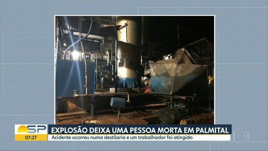 Explosão em destilaria mata funcionário em Palmital