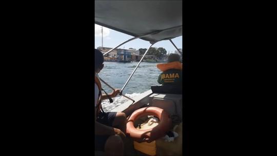 Ibama e Marinha realizam vistoria na foz do Rio São Francisco em Piaçabuçu, AL
