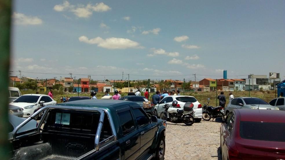 Crime ocorreu no Bairro Serrinha, próximo ao aeroporto de Fortaleza (Foto: Arquivo pessoal)