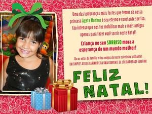 Brinquedos serão entregues junto com cartão que traz mensagem de Natal (Foto: Eloana Munhoz/Arquivo pessoal)