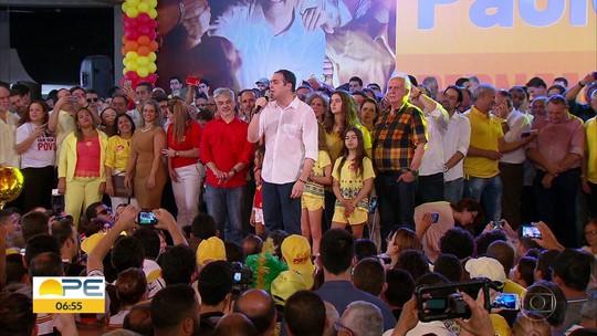 'Frente Popular de Pernambuco' oficializa candidatura de Paulo Câmara, do PSB, à reeleição