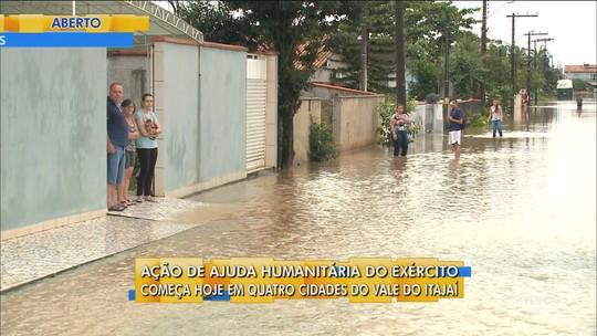 Quatro cidades do Vale do Itajaí realizam simulado de prevenção de desastres