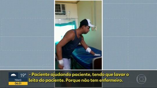 Pacientes limpam leitos no Hospital da Posse, no RJ, por falta de funcionários; vídeo