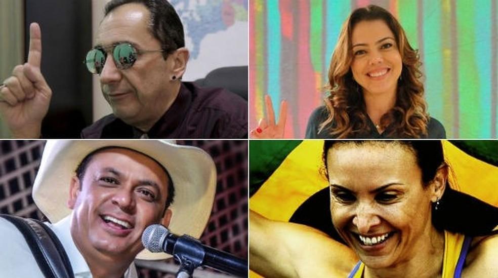Kajuru, Frank Aguiar, Mauren Maggi: quem se deu bem e quem se deu mal entre os famosos — Foto: Arte/G1