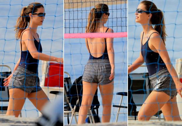 Nathalia Dill tem vôlei de praia como aliado a seus cuidados com o corpo (Foto: Agnews)