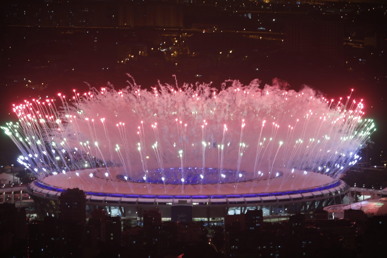 A abertura da Rio-2016, no Maracanã