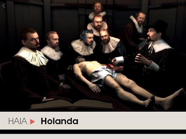 Recurso de realidade virtual leva visitante para uma das obras mais famosas e revolucionárias do pintor Rembrandt (A Lição de Anatomia do Dr. Tulp) (Foto: Divulgação)