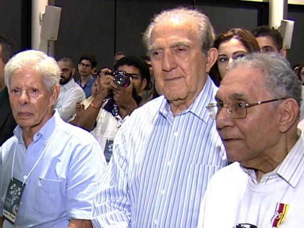 Joaquim Margarido (esq.), Phelippe Daou e Milton Cordeiro, fundadores da Rede Amazônica, em imagem de setembro de 2013   (Foto: Reprodução / Rede Amazônica)