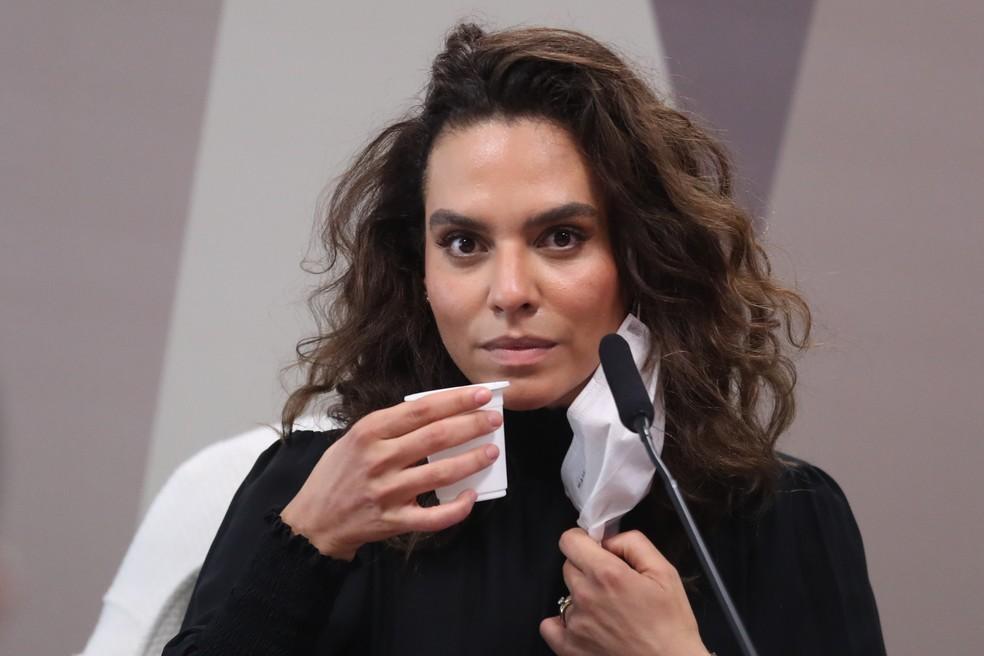 A médica infectologista Luana Araújo foi ouvida nesta terça (2) pela CPI da Covid — Foto: Gabriela Biló/Estadão Conteúdo