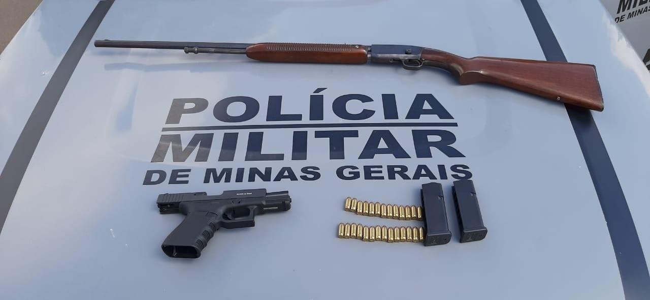 Armas e munição são apreendidas pela PM durante operação em Papagaios