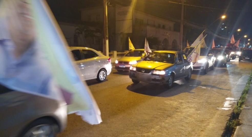 Vitória de Edvaldo é comemorada com carreata em Aracaju — Foto: Ana Fontes/TV Sergipe
