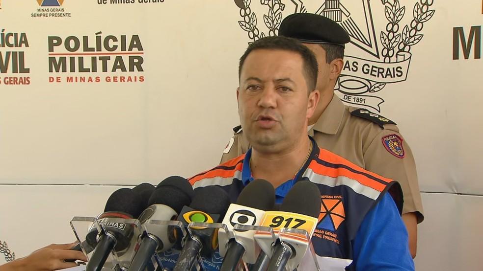 Tenente-coronel Godinho, da Defesa Civil de MG — Foto: Reprodução/TV Globo