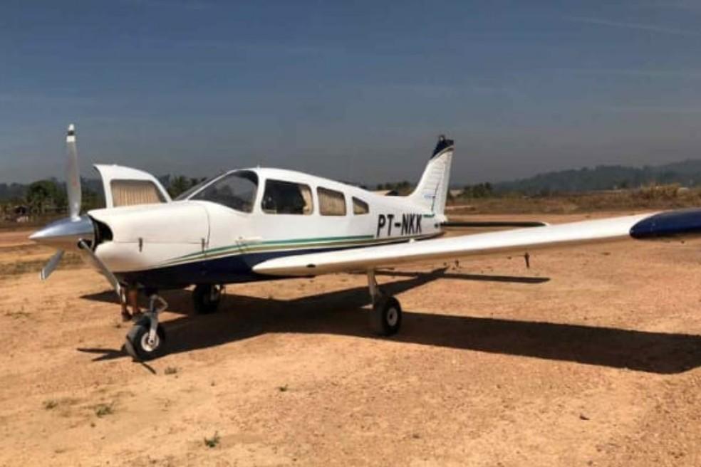 Aeronave de prefixo PTNKK teria partido da cabeceira do rio Piranhas com destino ao distrito de Moraes de Almeida, e caiu minutos após a decolagem — Foto: Reprodução