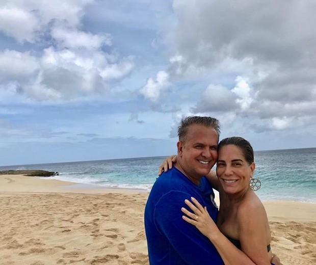Orlando Morais e Gloria Pires no Havaí (Foto: Reprodução/Instagram)