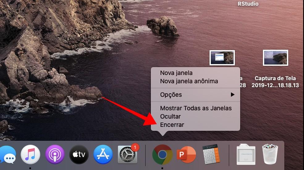 Encerre todos os aplicativos abertos — Foto: Reprodução/Paulo Alves