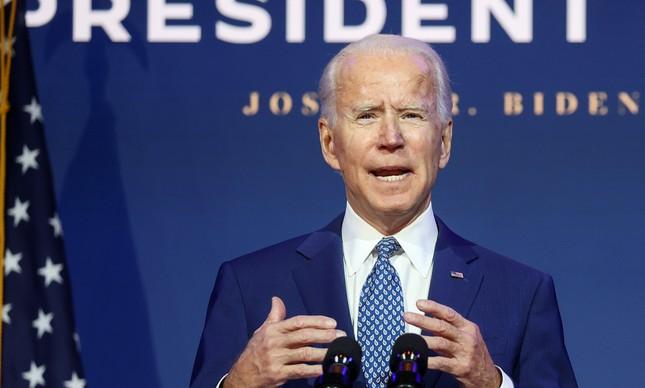 O presidente eleito dos EUA, Joe Biden, fala sobre como enfrentar os desafios da Covid-19