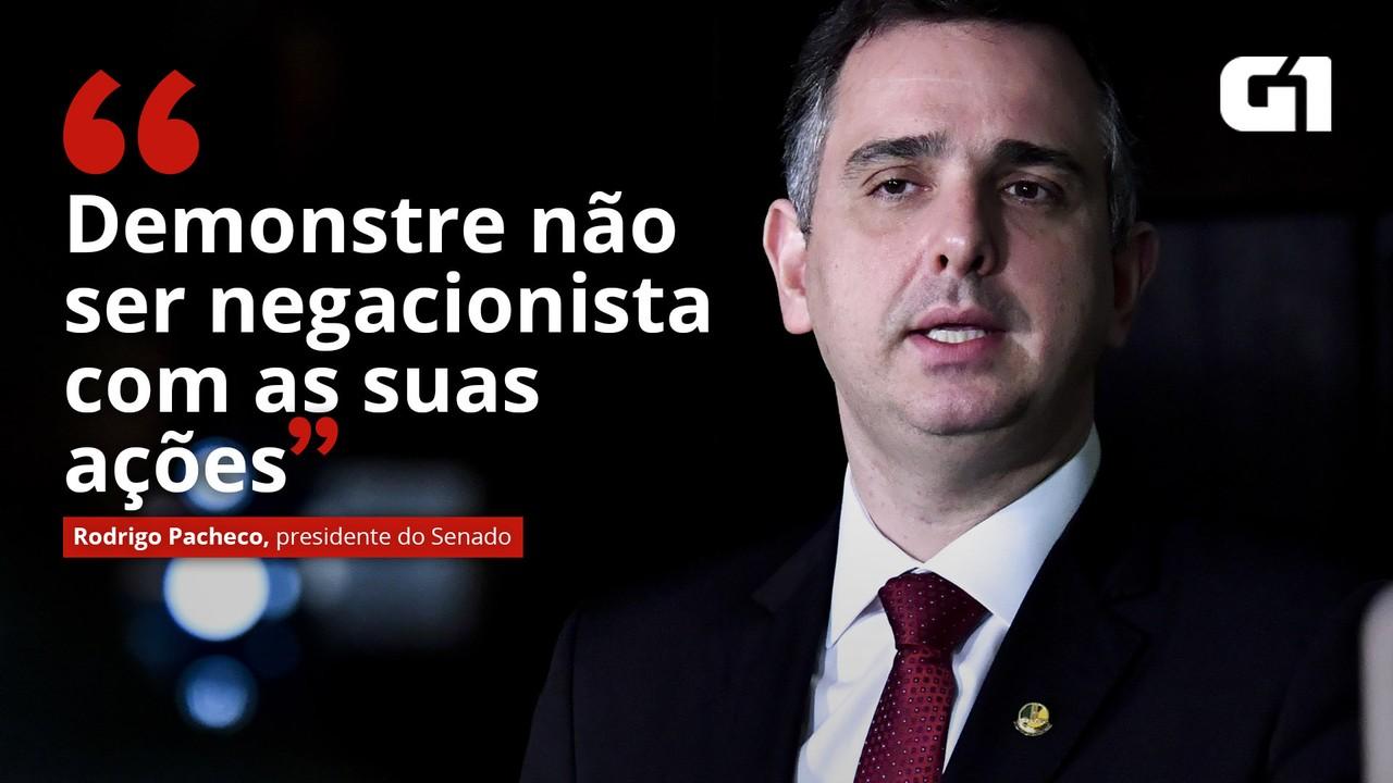 VÍDEO: Pacheco diz esperar que Ministério da Saúde demonstre 'com ações' que não é 'negacionista'