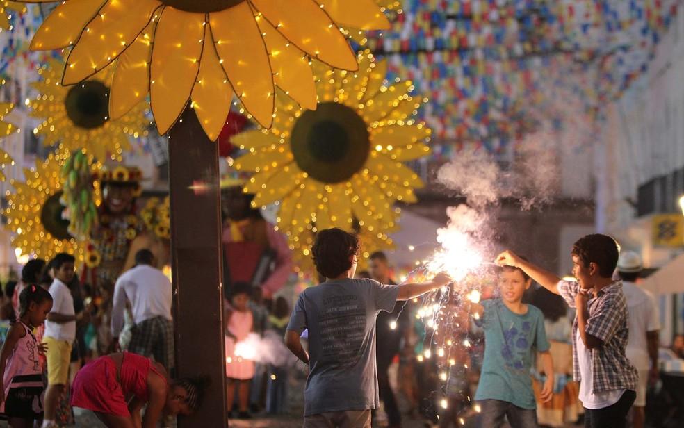 São João do Pelourinho, em Salvador, antes da pandemia da Covid-19 — Foto: Carol Garcia/GOVBA