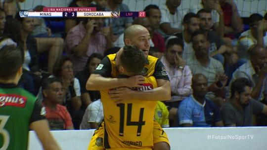 Os gols de Sorocaba 4 x 2 Minas pela Liga Futsal