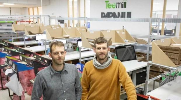 Rob e Martin Drake-Knight, fundadores da Teemill e da Rapanui (Foto: Divulgação)