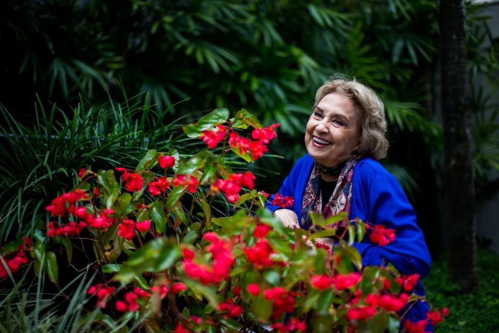 Eva Wilma posa para foto em São Paulo, em 2016 — Foto: Tiago Queiroz/Estadão Conteúdo/Arquivo