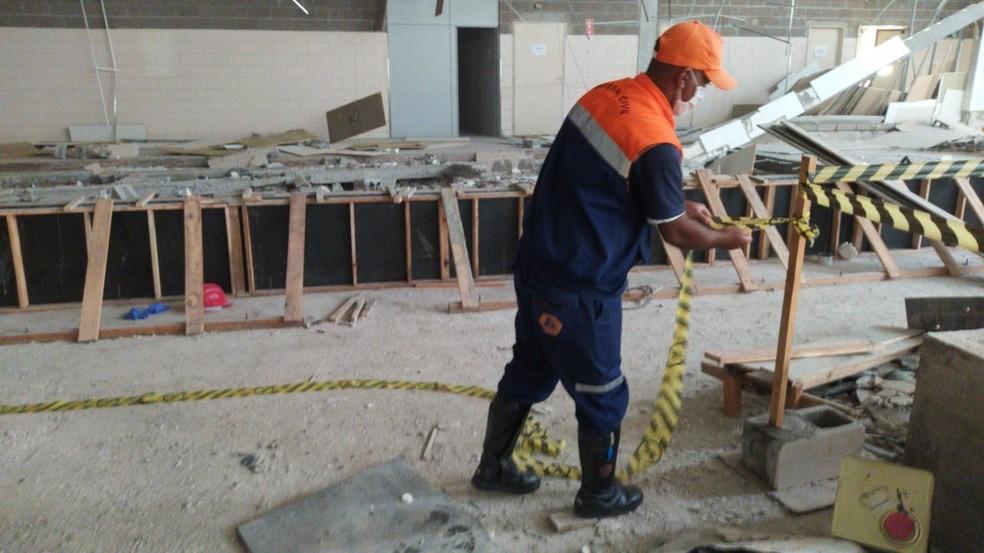Trabalhadores morreram vítimas de desabamento em obra em hipermercado, em Presidente Prudente — Foto: Defesa Civil