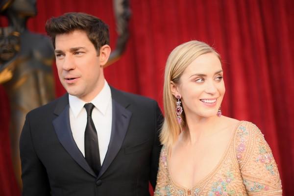 A atriz Emily Blunt e seu marido, o ator e diretor John Krasinski (Foto: Getty Images)