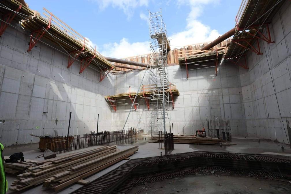 """Piscina """"Deepspot"""", na Polônia, terá 45 metros de profundidade e se tornará piscina mais funda do mundo — Foto: Reprodução/Facebook Deepspot"""