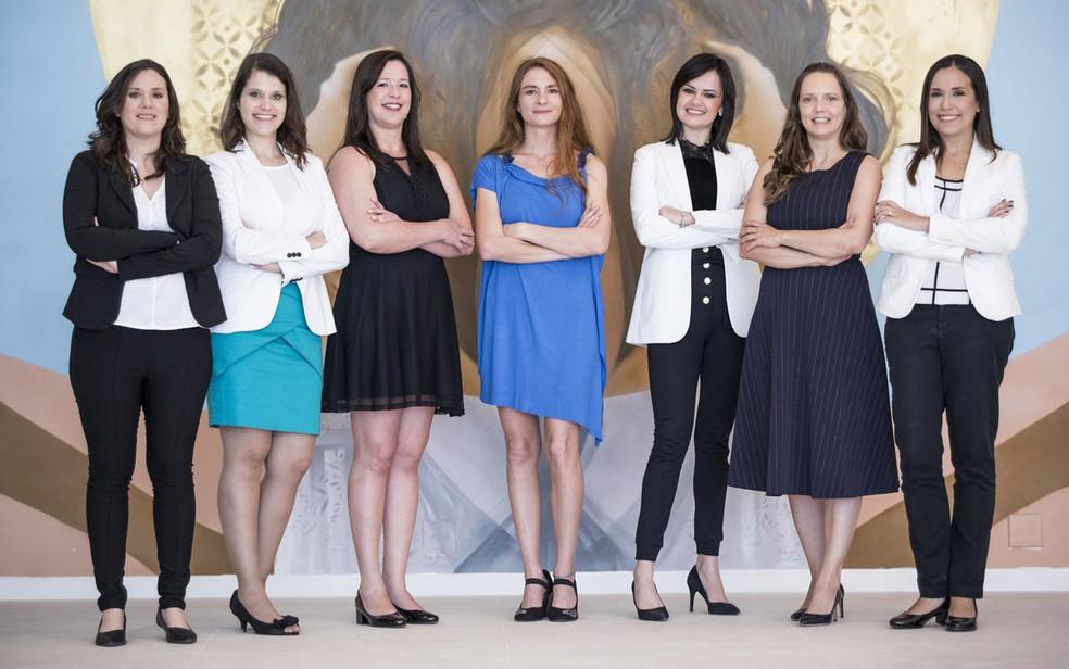 As sete cientistas vencedoras do prêmio 'Para Mulheres na Ciência' 2018 (Foto: Divulgação/Para Mulheres na Ciência)