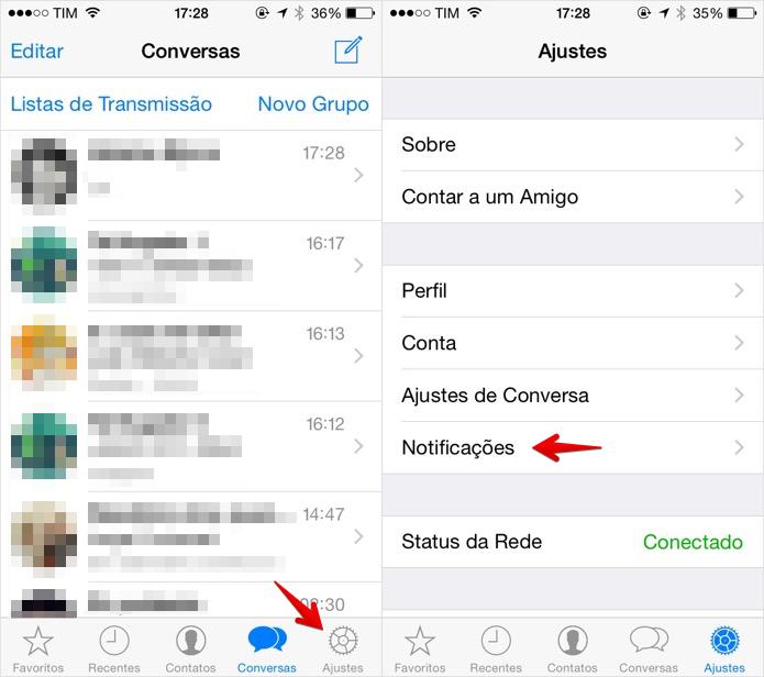 Acesse as configurações do WhatsApp  (Foto: Foto: Reprodução/Helito Bijora)
