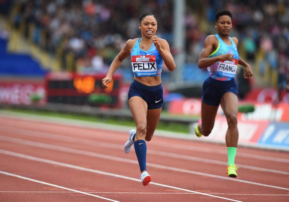 Allyson Felix é uma das principais estrelas do atletismo mundial — Foto: T Marshall/British Athletics