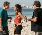 Dennis Carvalho dirige Thiago Fragoso e Camila PItanga no Leme | TV Globo
