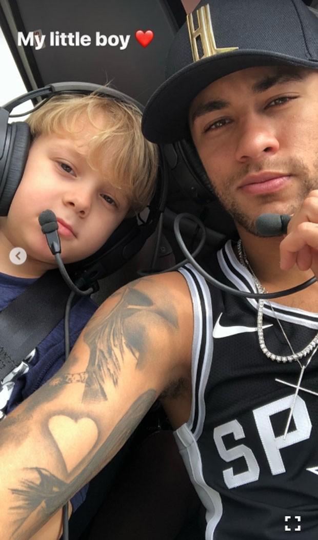Davi Lucca e o pai, Neymar (Foto: Reprodução Instagram)