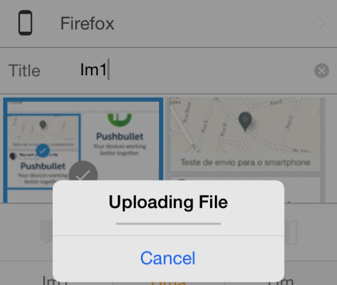 Enviando um arquivo a partir do smartphone (Foto: Reprodução/Edivaldo Brito)