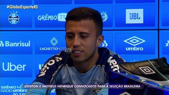 """Matheus Henrique recebe notícia de convocação durante treino e já pensa em trote: """"Emocionado"""""""