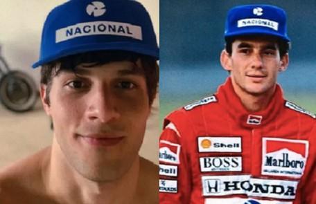 Chay Suede está cotadíssimo para viver Artyon Senna na série da Netflix sobre a vida do piloto. As filmagens deverão acontecer em 2022 Reprodução
