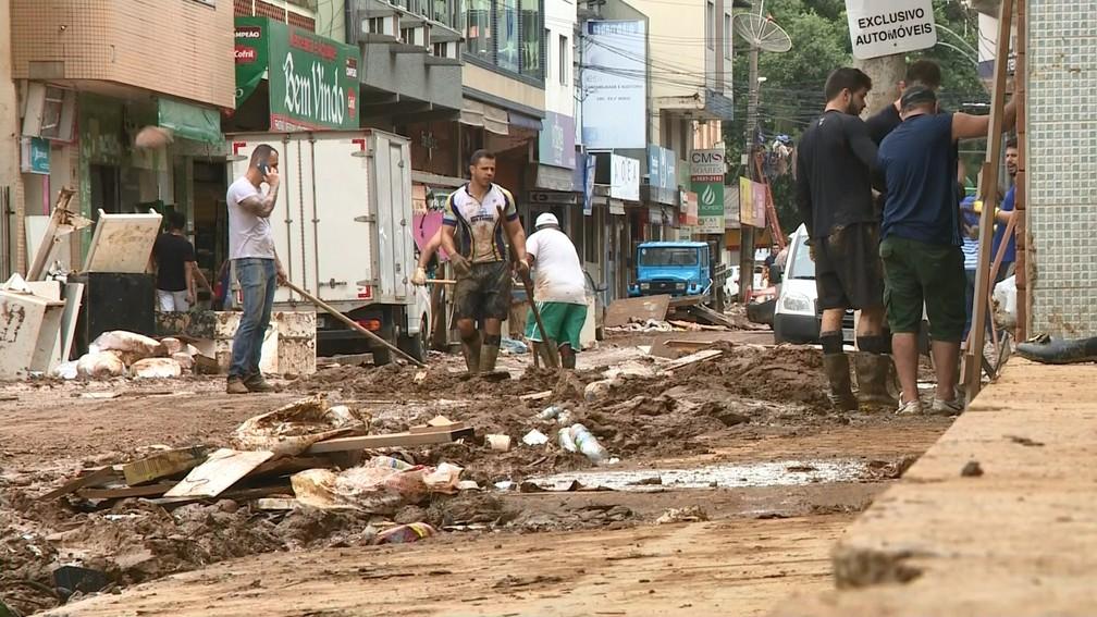 Iconha, 22 de janeiro de 2020: município é um dos que estão no decreto de calamidade pública — Foto: Reprodução/TV Gazeta