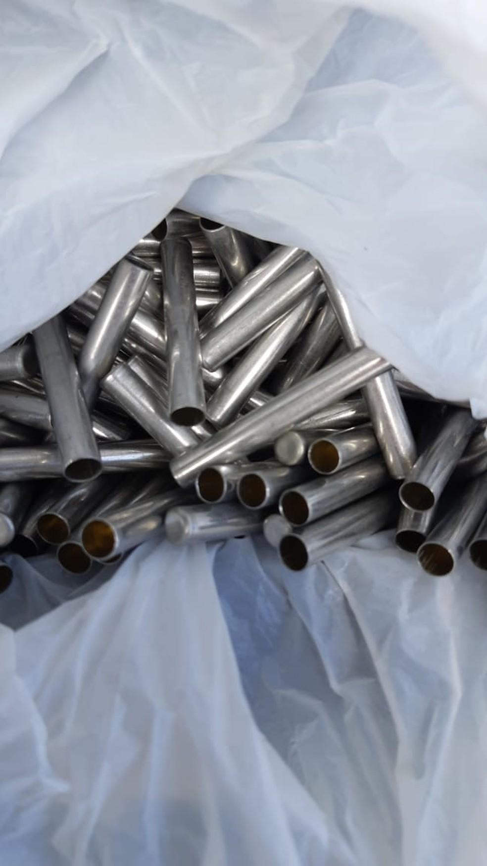 Espoletas para explosivos de demolição  — Foto: Polícia Rodoviária Federal/Divulgação
