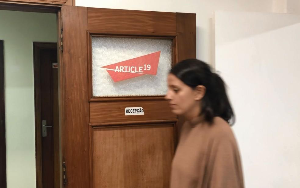 Camila Marques, advogada e uma das coordenadoras da Article 19 (Foto: Kleber Tomaz/G1)