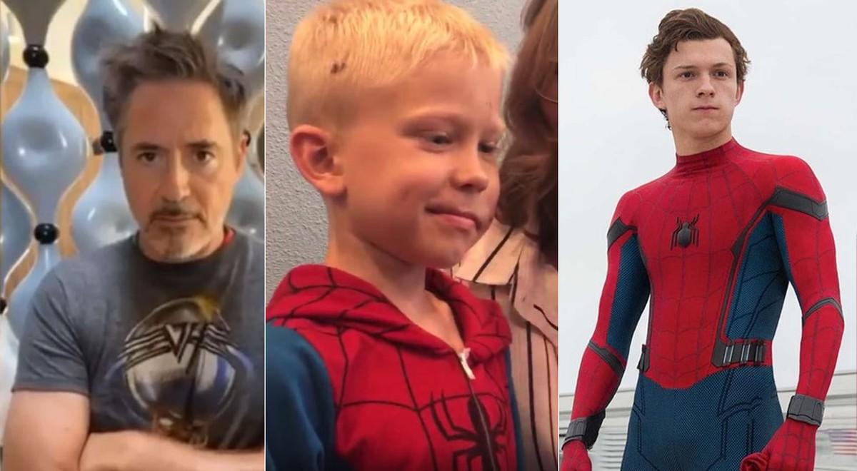 Tom Holland e Robert Downey Jr. parabenizam menino que salvou irmã de ataque de cachorro | Cinema