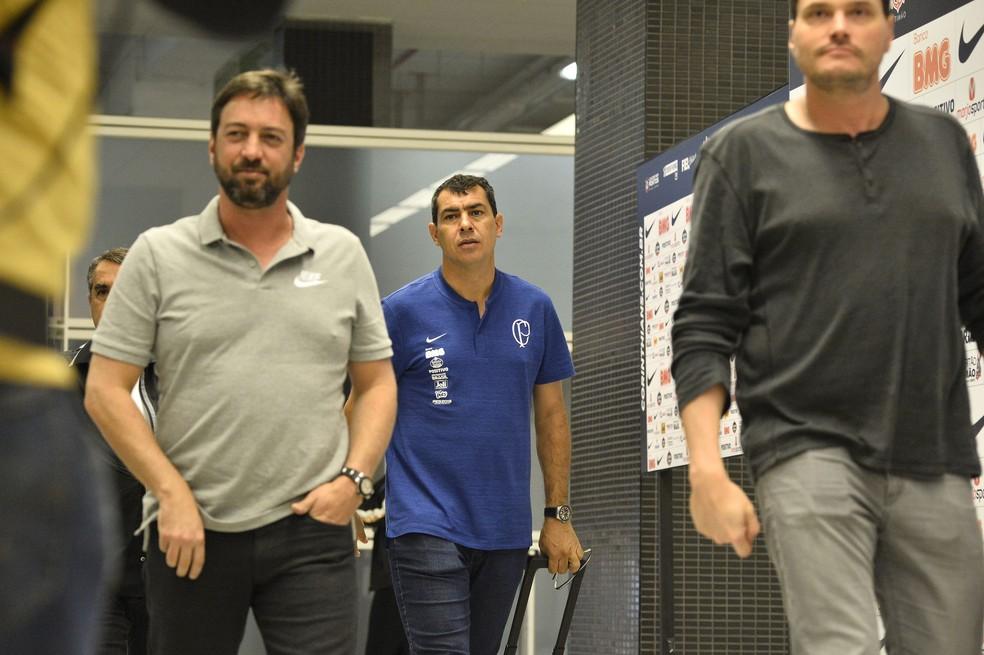 Duílio Monteiro Alve, Carille e Eduardo Ferreira — Foto: Marcos Ribolli