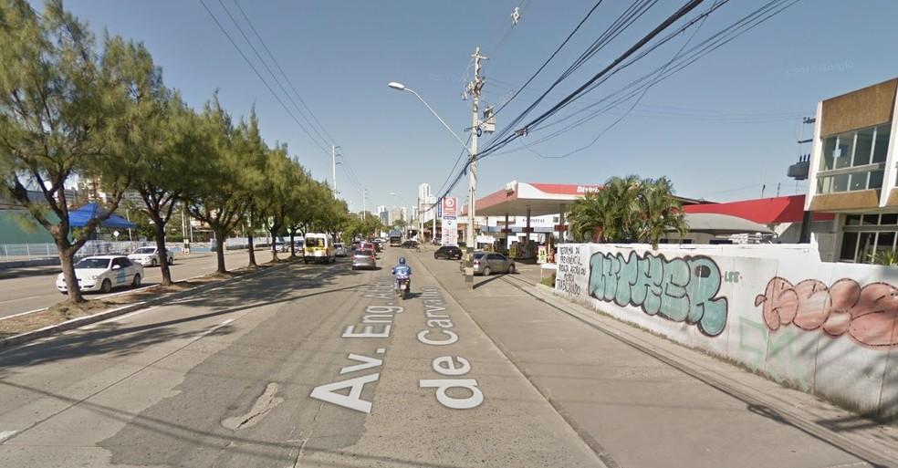 Avenida Abdias de Carvalho fica na Zona Oeste do Recife (Foto: Reprodução/Google Street View)