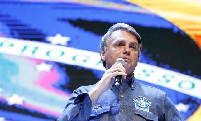 Bolsonaro discursa durante culto que reuniu diferentes denominações religiosas em Anápolis (GO), no qual o presidente admitiu ter divulgado dados falsos atribuídos ao TCU