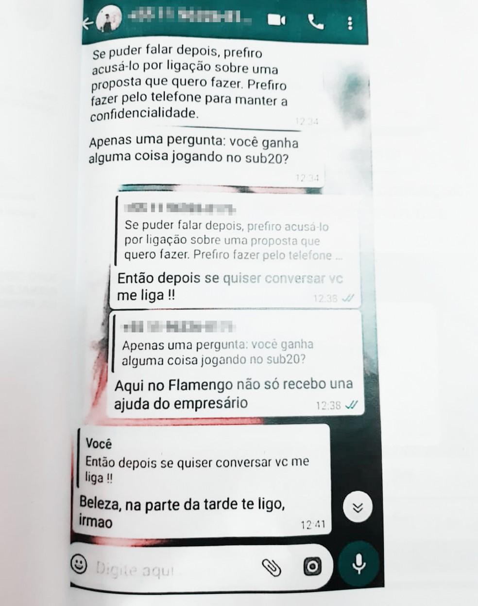 Goleiro do Fla de Guarulhos é abordado para fabricar resultado. Ele negou e denunciou o caso — Foto: Reprodução