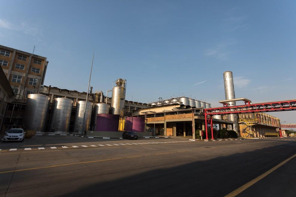 Fábrica da Ambev em Jaguariúna é a maior da Ambev no estado de São Paulo (Foto: Marcelo Brandt/G1)