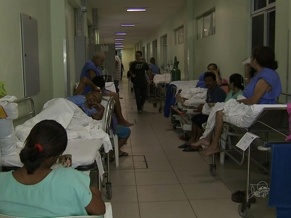 Um terço dos pacientes do Hospital Geral de Fortaleza viajam de outras cidades para a capital cearense — Foto: TV Verdes Mares/Reprodução