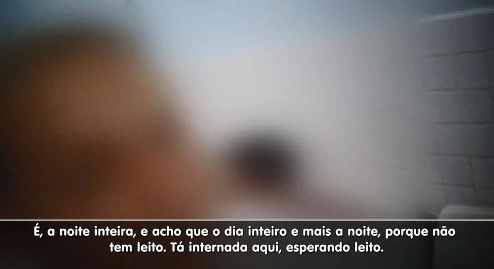 Falta de leitos no Hospital Municipal Dr. Mário Gatti, em Campinas (SP) (Foto: Reprodução/EPTV)