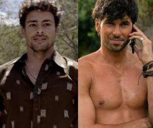 Leandro, o sommelier vivido por Cauã Reymond, virou Fabrizio, um especialista em café vivido pelo ator peruano Jason Day | TV Globo - Divulgação
