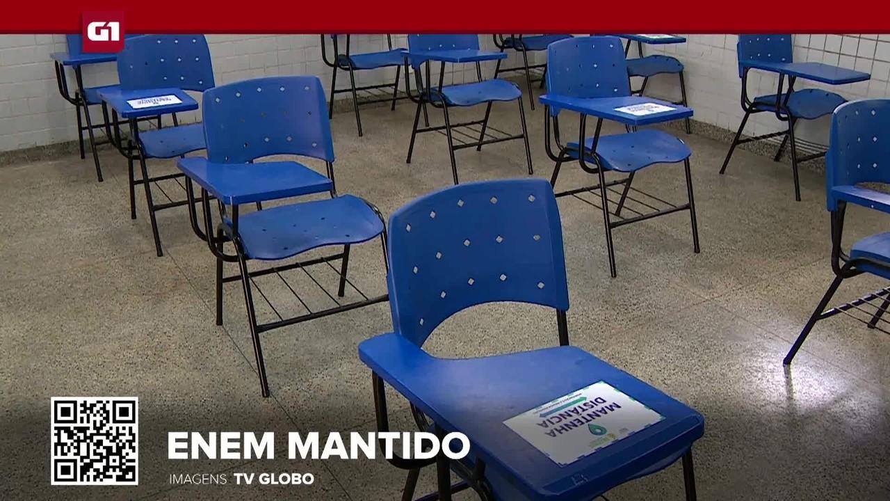 G1 em 1 Minuto: Justiça nega mais uma vez o adiamento do Enem e mantém prova domingo